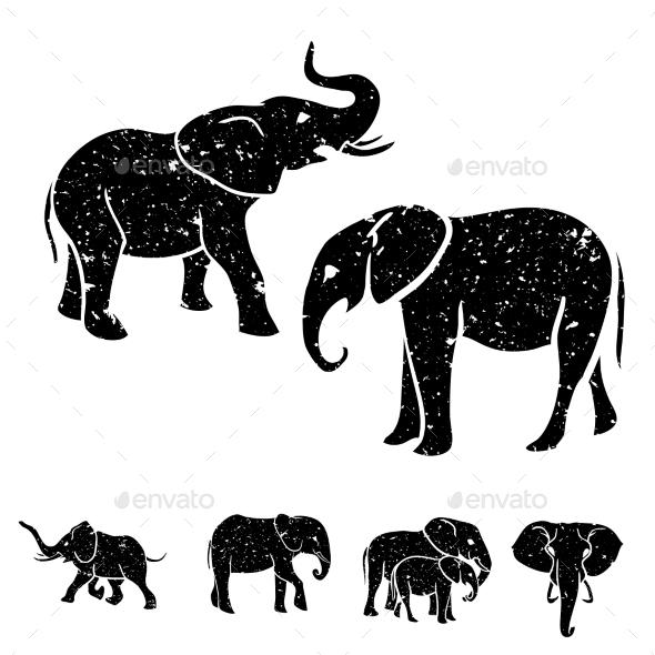GraphicRiver Elephants Set 11033131