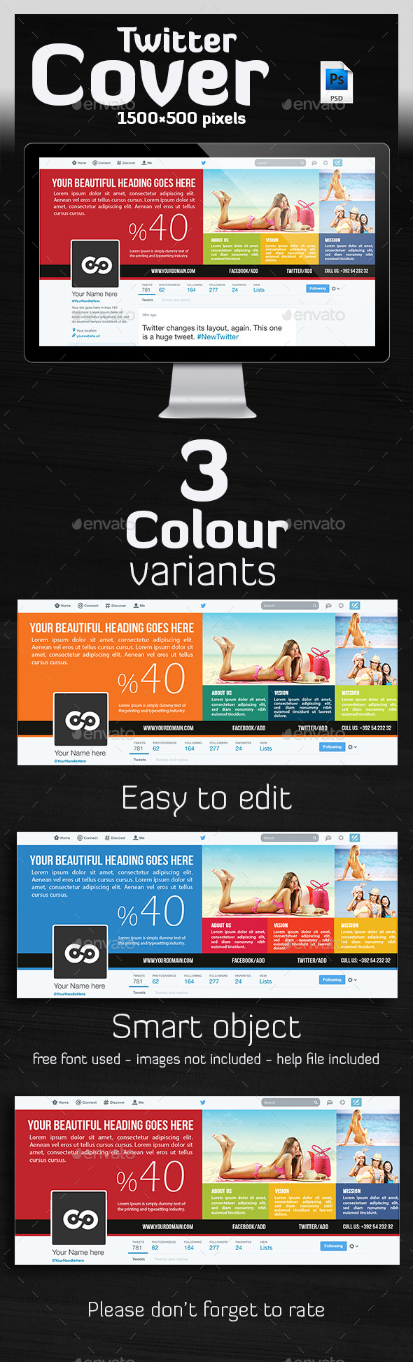 GraphicRiver Multipurpose Twitter Header 11033139