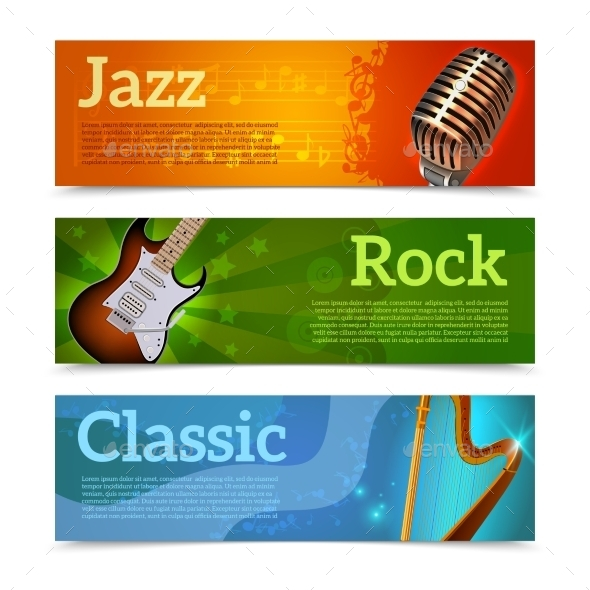 GraphicRiver Music Festival Banners 11033141