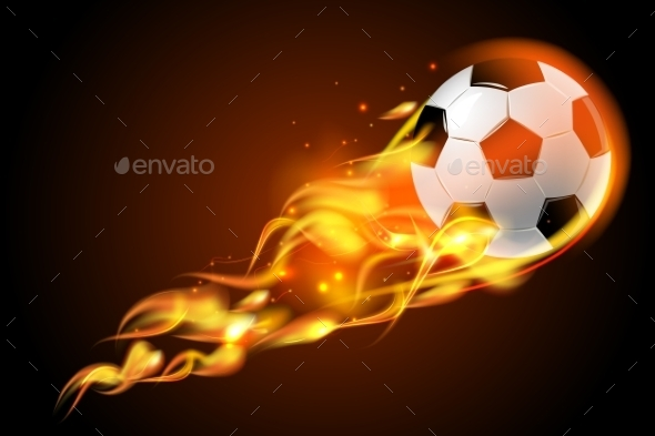 GraphicRiver Fire Soccer Ball 11033151