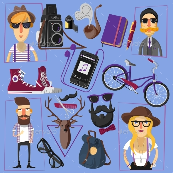 GraphicRiver Hipster Icons 11033154