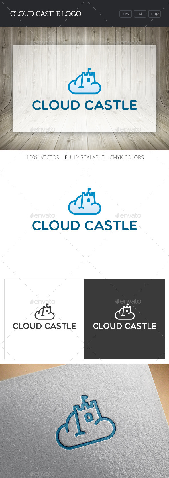 GraphicRiver Cloud Castle Logo 11033194
