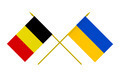 Flags of Belgium and Ukraine, 3d Render, Isolated - PhotoDune Item for Sale
