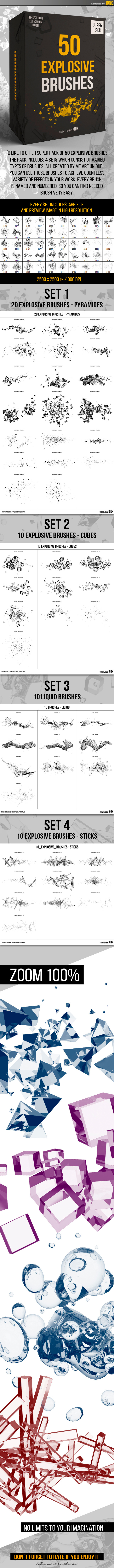 GraphicRiver 50 Explosion Brushes 11033246