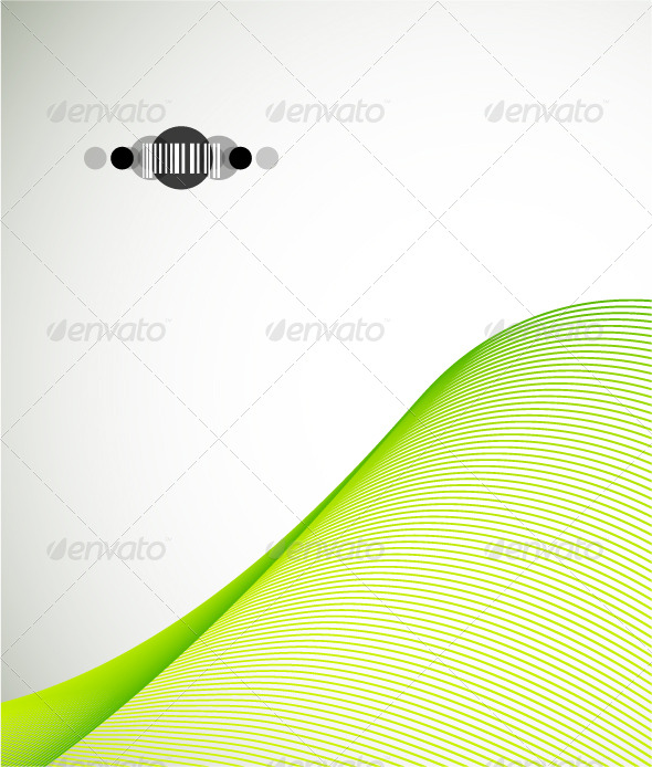 Green wave. Corporate design - Backgrounds Business