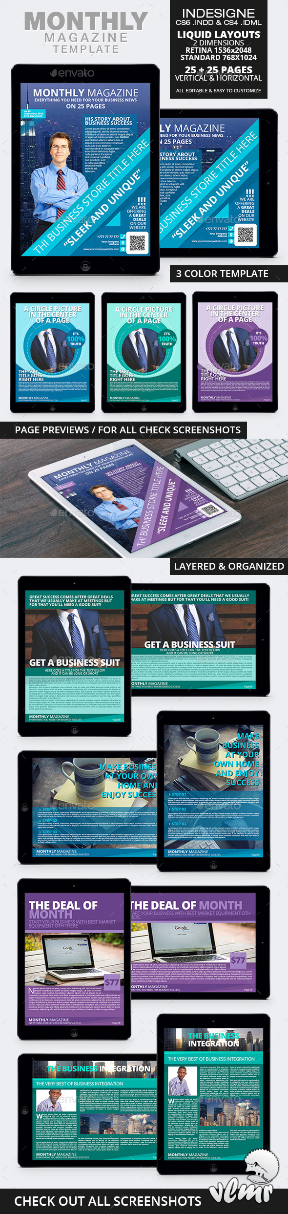 GraphicRiver Monthly Magazine Tablet Template 11033592