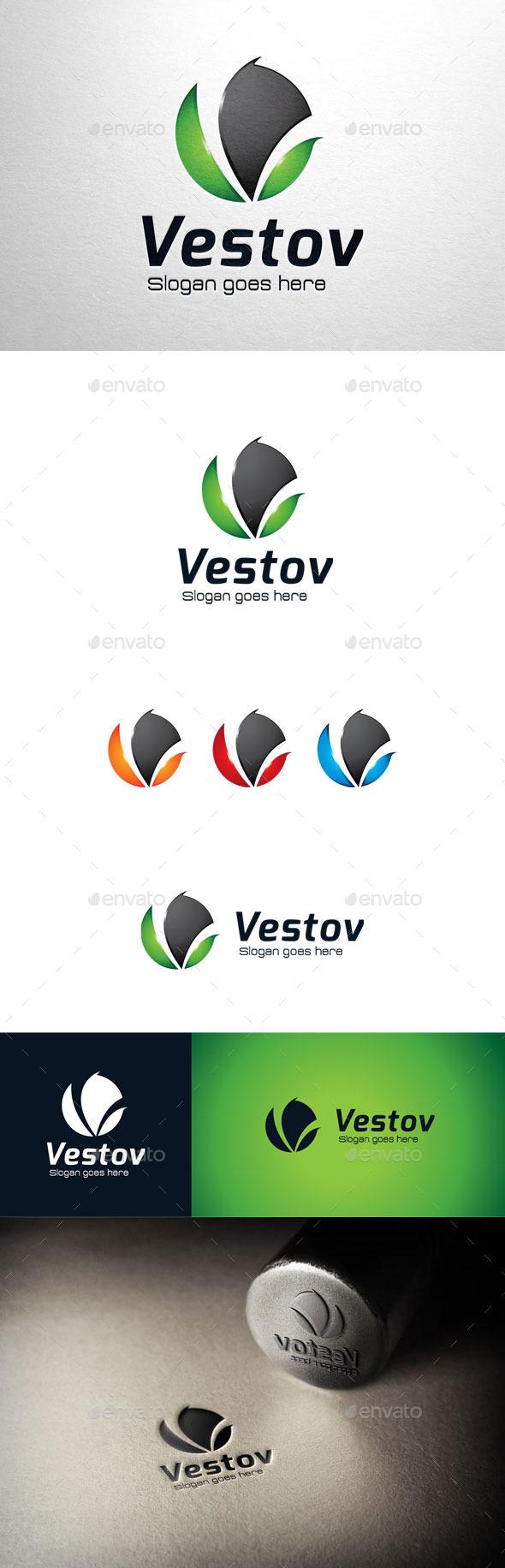 GraphicRiver Vestov Letter V Logo 11033623
