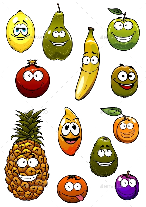 GraphicRiver Fruit Cartoon 11033684