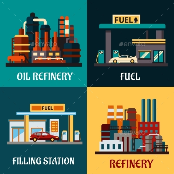 GraphicRiver Fuel and Refinery 11033685