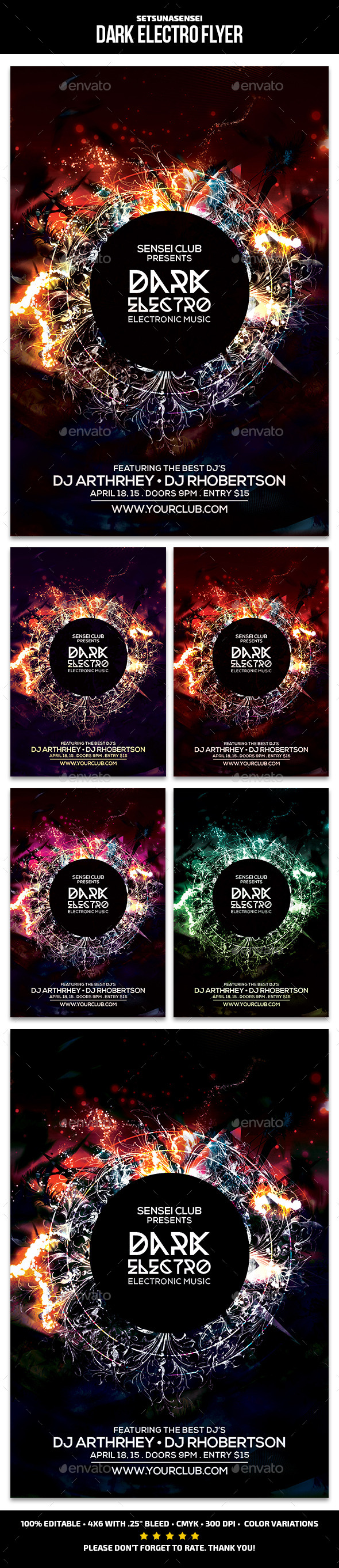 GraphicRiver Dark Electro Flyer Vol.2 11033713