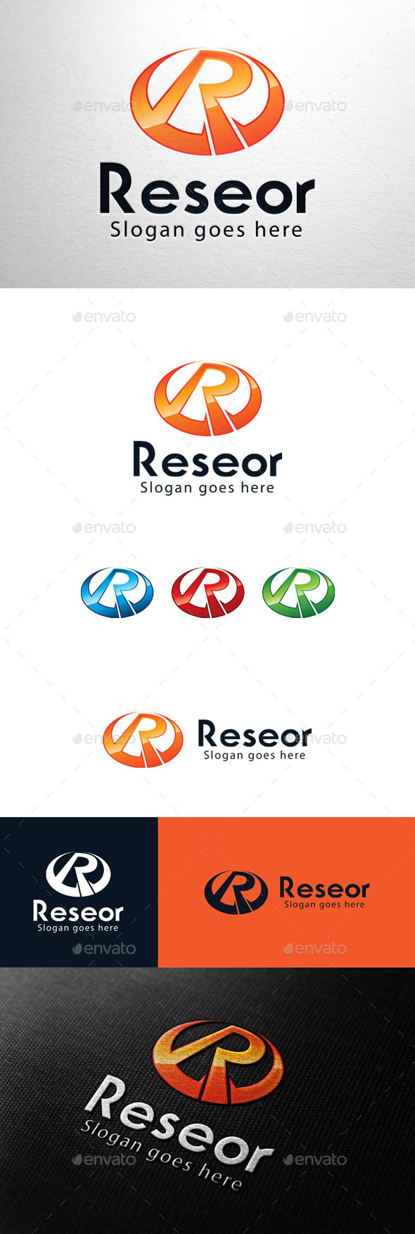 GraphicRiver Reseor Letter R Logo 11033738