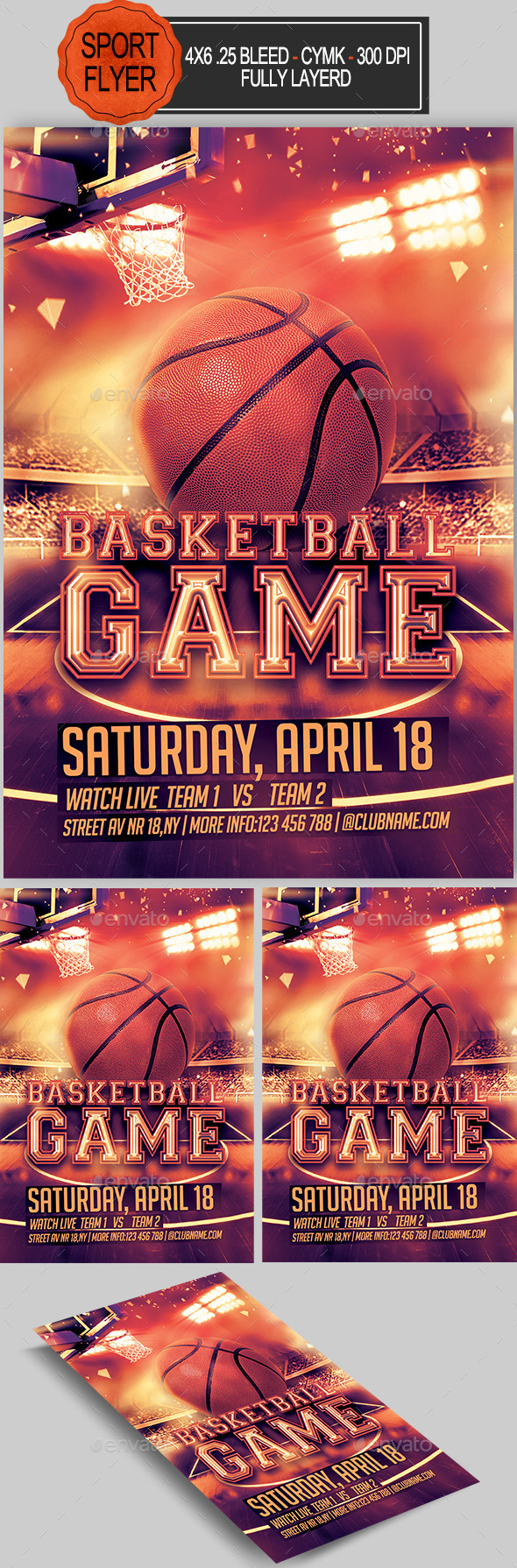 GraphicRiver Basketball Flyer 11033806