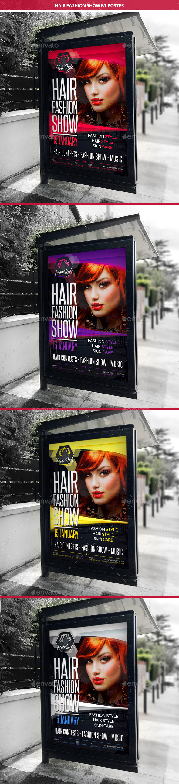 GraphicRiver Hair Fashion Show Promotion B1 Poster 11034001