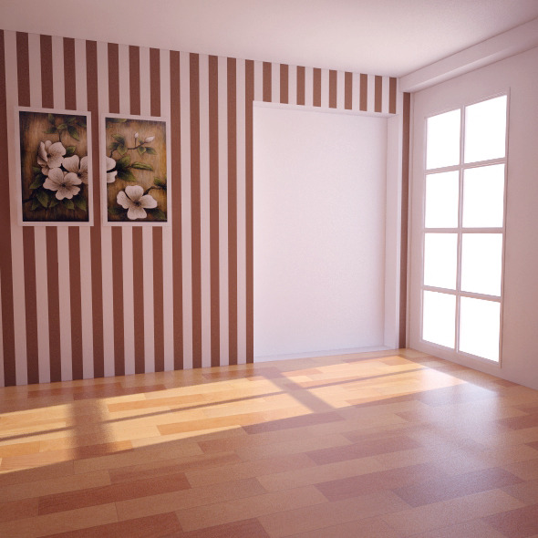 Empty Room  Vray (light+camera)+psd  - 3DOcean Item for Sale