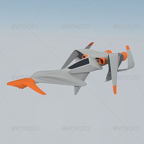 Starfighter concept - 3DOcean Item for Sale