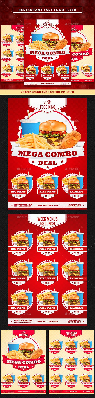 Restaurant Fast Food Menu Flyer