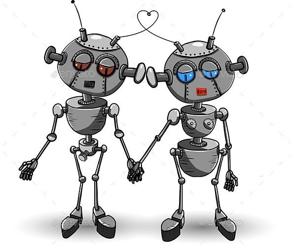 GraphicRiver Robots in Love 11034596
