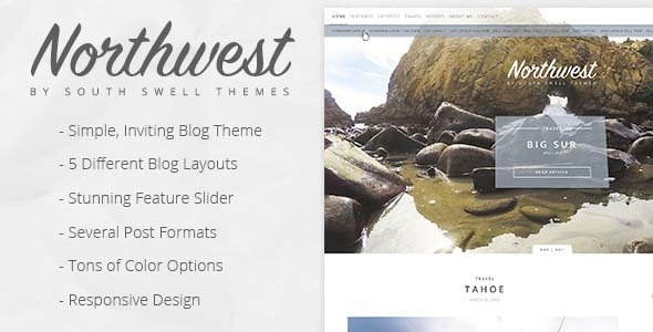ThemeForest NorthWest Simple Inviting Blogging PSD 11034614