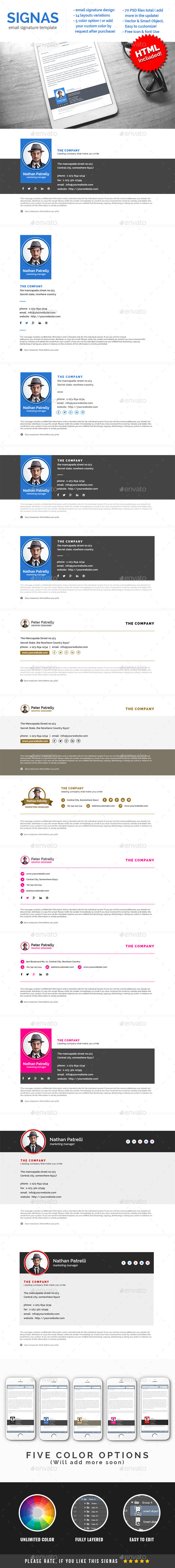 GraphicRiver Signas 2 E-signature Template 11034713