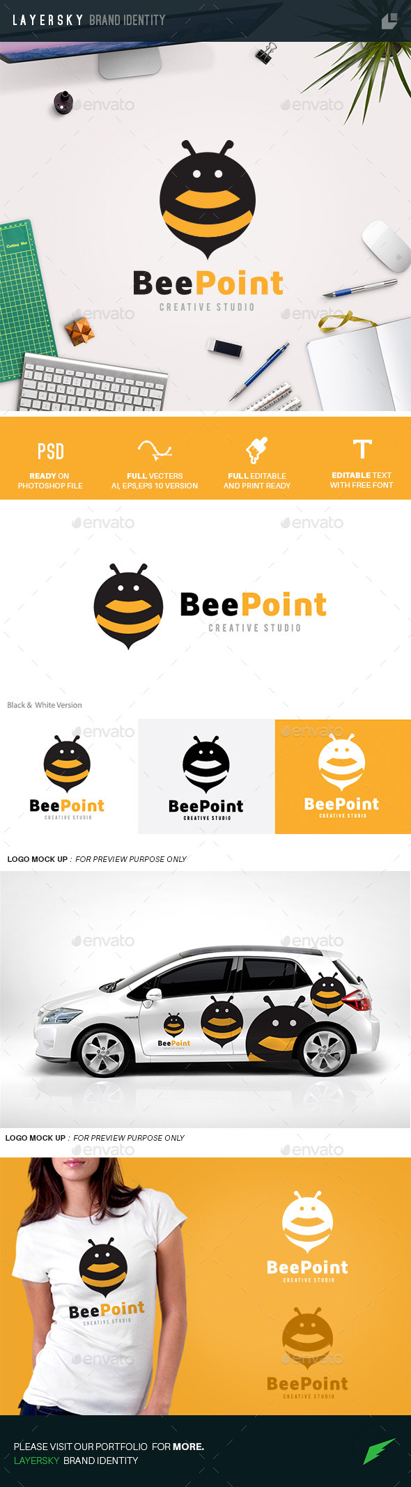 GraphicRiver Bee Point 11034818