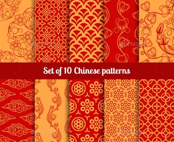 GraphicRiver Chinese Patterns 11034955