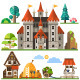 Medieval Castle and House - GraphicRiver Item for Sale