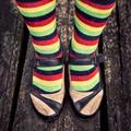 Female legs in striped socks in vintage style - PhotoDune Item for Sale