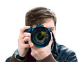 photographer takes a picture. Front view, close-up - PhotoDune Item for Sale
