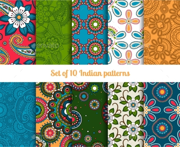 GraphicRiver Paisley Patterns 11034998