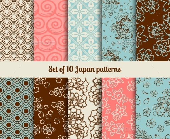 GraphicRiver Japanese Patterns 11035006