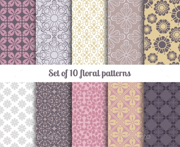 GraphicRiver Pastel Patterns 11035013