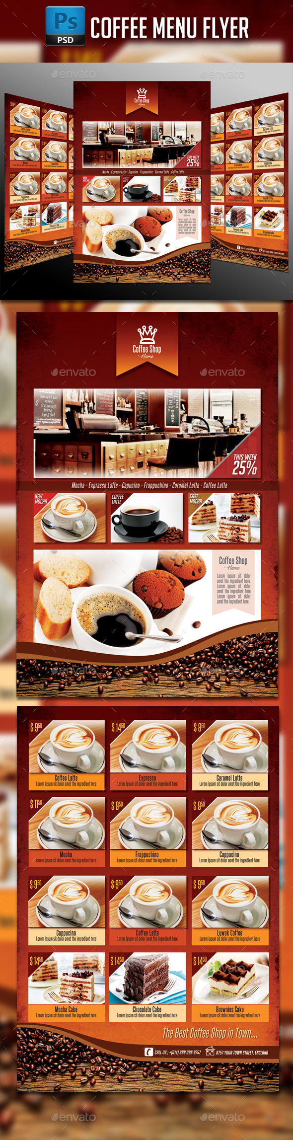 GraphicRiver Coffee Menu Flyer 11035046