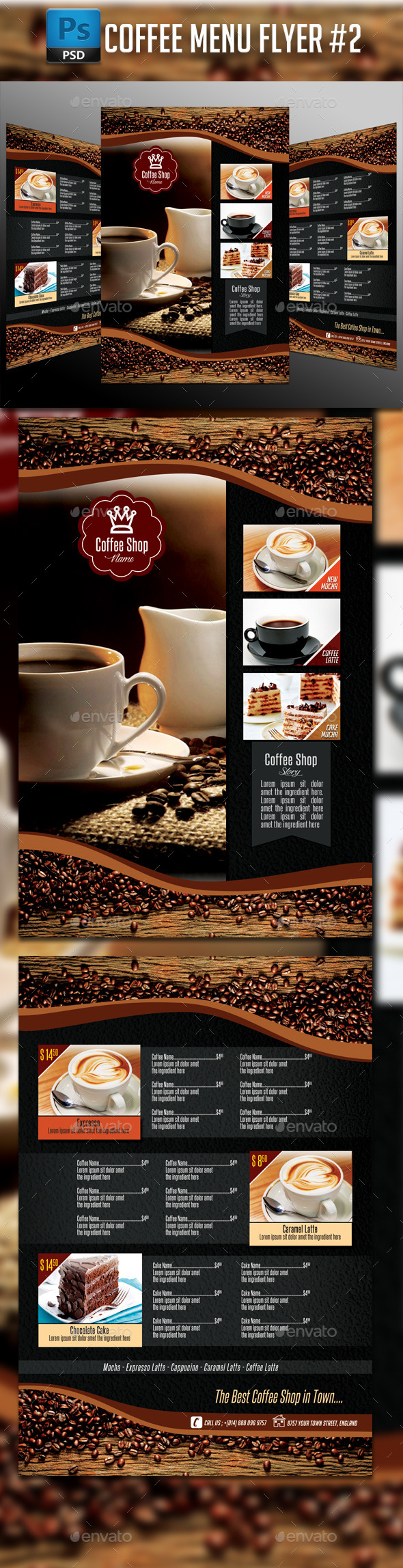 GraphicRiver Coffee Menu Flyer #2 11035329