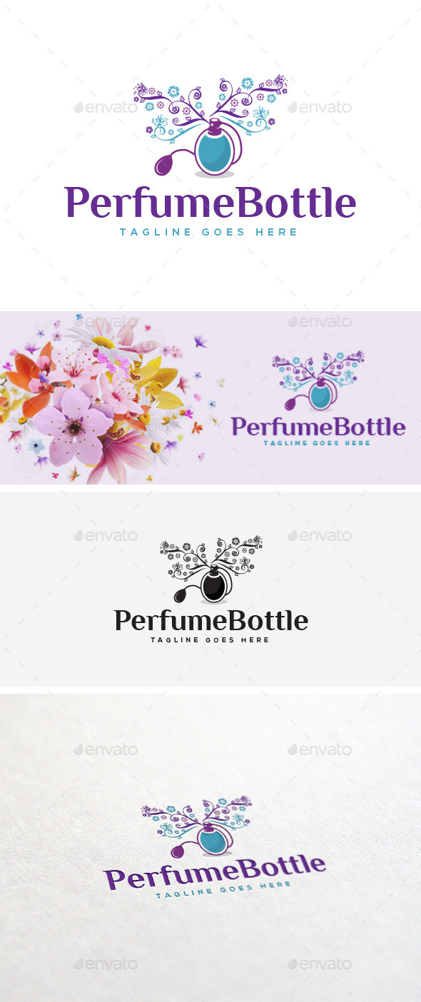 GraphicRiver Perfume Bottle Logo Template 11035414