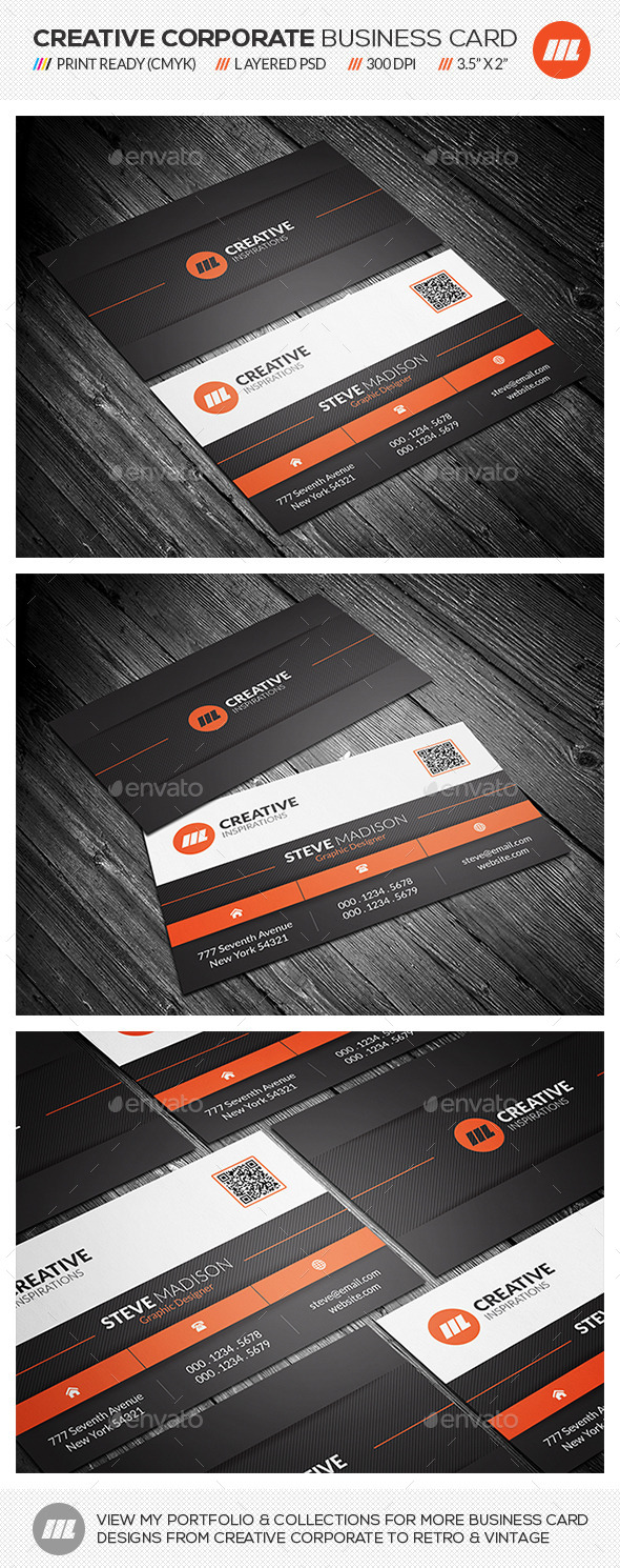 GraphicRiver Creative Corporate Business Card 11035507