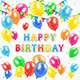 Birthday Background with Balloons - GraphicRiver Item for Sale