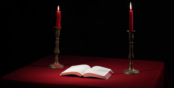 Download Open Bible With Candles nulled download