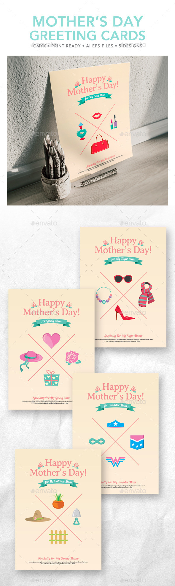 GraphicRiver Mother s Day Greeting Card 10988106