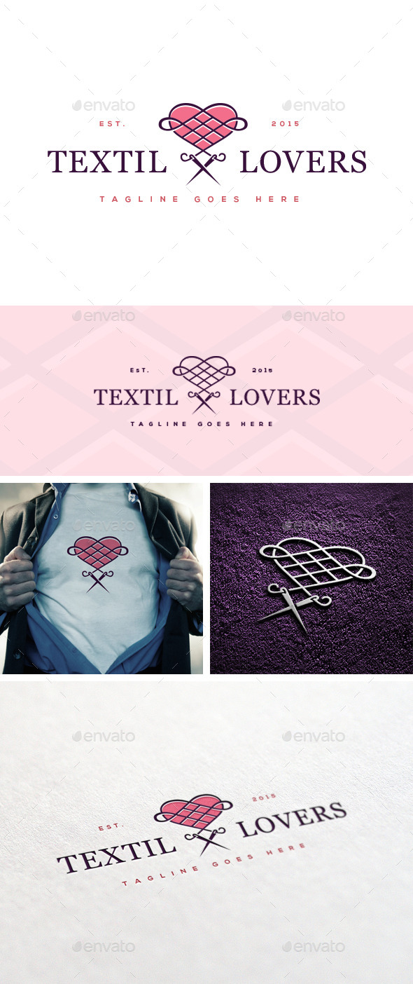 GraphicRiver Textil Lovers Logo Template 11035733