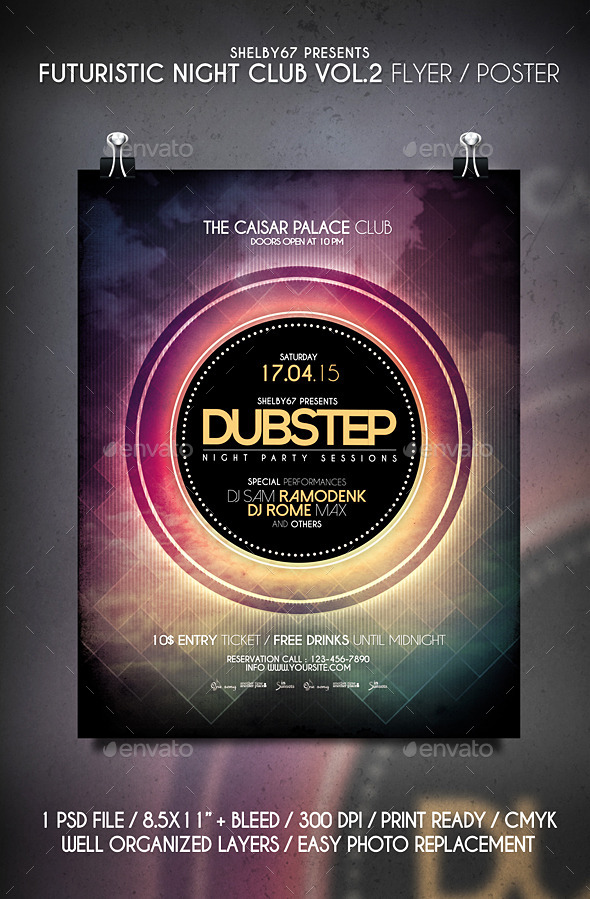 GraphicRiver Futuristic Night Club Flyer Poster Vol 2 11035732
