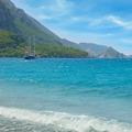 seascape, sailing ship and the mountainous coast - PhotoDune Item for Sale