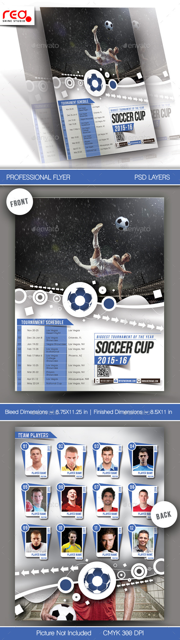 GraphicRiver Football Tournament Flyer & Poster Template 11035752