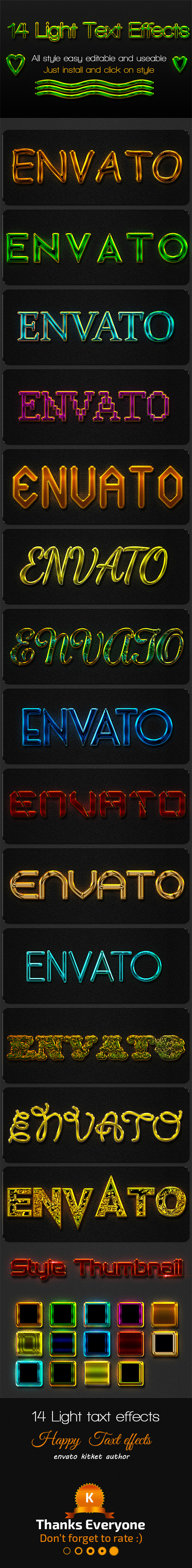 GraphicRiver 14 Light Text Effects 11035788