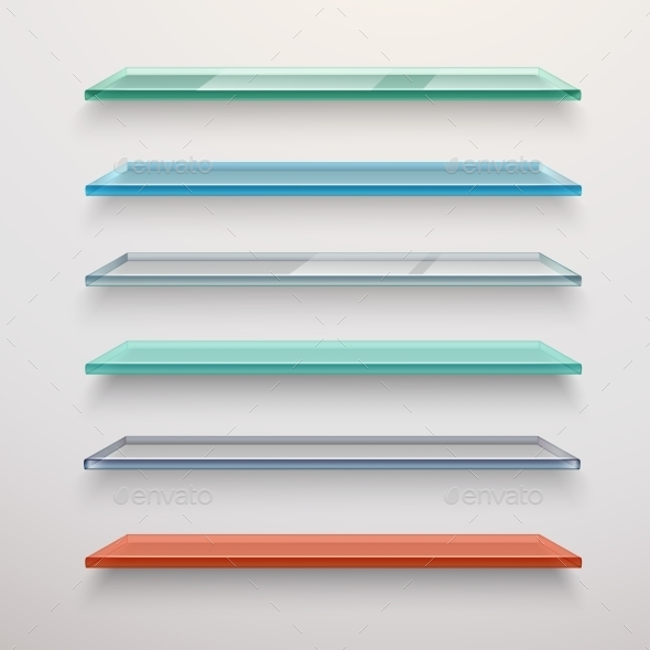 GraphicRiver Glass Shelves Set 11035817