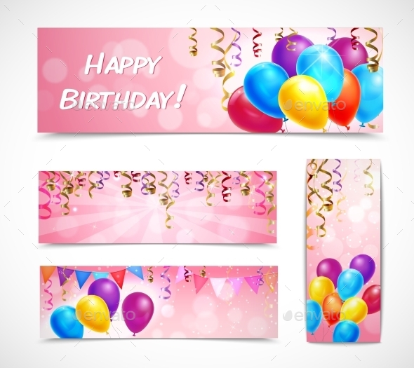 GraphicRiver Celebration Banners Set 11035821