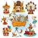 Amusement Park Colored Set - GraphicRiver Item for Sale