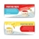 Painting Work Banners - GraphicRiver Item for Sale