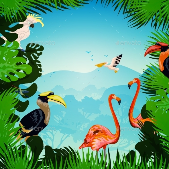 GraphicRiver Tropical Forest Background 11035844