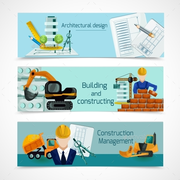 GraphicRiver Construction Banners Set 11035955