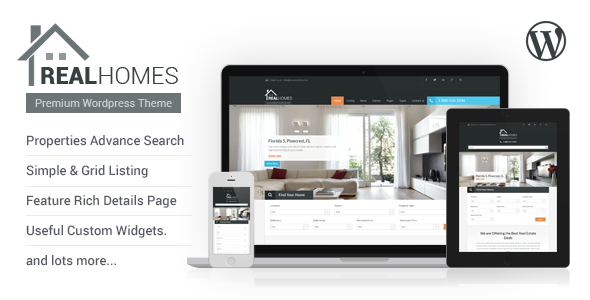 Real Homes - WordPress Real Estate Theme - Real Estate WordPress